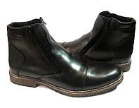 Ботинки мужские зимние классика кожаные внутри натуральный мех черные Uk0511