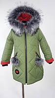 Стильная зимняя детская куртка для девочки