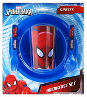Набор для завтрака Spiderman 5 предметов для мальчиков