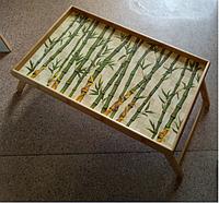Бамбуковый раскладной столик (50*30*24 см)