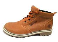 Мужские ботинки Timberland зимние натуральная кожа рыжие T0038