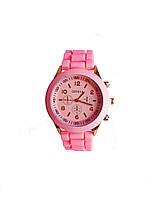 Часы кварцевые на силиконовом ремешке Geneva Розовый Розовый