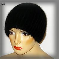 Женская шапка из ондатры на трикотаже