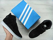 Мужские кроссовки AD Tubular Invader Strap Shoes Black Ice White. ТОП Реплика ААА класса., фото 3