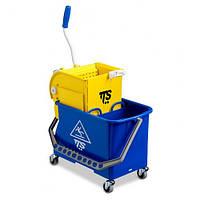 Ведро для уборки на колёсиках DOUBLE BUCKET 20л TTS (Италия)