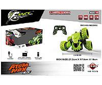 Машинка - Перевертыш аккумуляторный р/у HB-NB2802 (GREEN) 1:28 для мальчиков с 8 лет (зеленый) Royaltoys