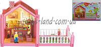 Домик OS951 фигурки, столик, диван, кресла, камин, балкон, в коробке 16,5*22*39,5 см.