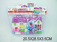 Домик 13165 (1135237)  2-х этажный, мебель, фигурки, в пакете 20,5*28,5*3,5 см.