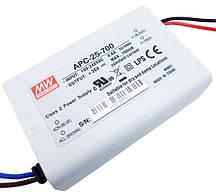 Источник питания 700мА 25Вт 11-36вольт драйвер светодиода APC-25-700 MEAN WELL 4582