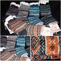Зимние теплые носки для женщин, мех, рисунок разный, 39-42 р-ры, 205/143