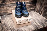 Зимние мужские ботинки теплые Merrell Синие 40 41 42 43 44 45