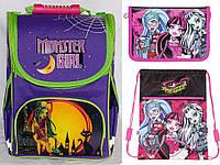 "Комплект. Рюкзак школьный каркасный ""Monster girl"" (мод.974696) + пенал + сумка"
