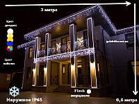 Гирлянда Бахрома Уличная 3х0,6 метра / Premium Iceclude IP65 для украшения фасадов зданий