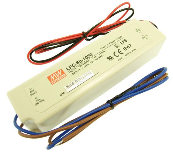 Источник питания  LPC-60-1050 драйвер светодиодов 1.05А 60Вт IP67 4282