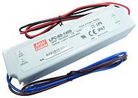 Блок питания 1400мА 60Вт 9-42вольт светодиодов LPC-60-1400 драйвер тока 1.4А 60Вт IP67 4465