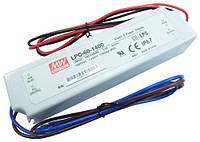 Источник питания светодиодов LPC-60-1400 драйвер тока 1.4А 60Вт IP67 4465