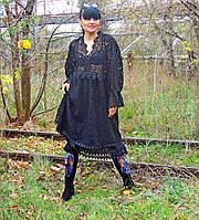 Зимнее БОХО платье  (10)