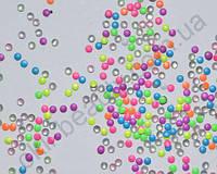 Украшение для ногтей - кружочки 2мм (50 штук в пакетике) Цвет: микс