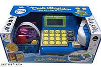 Кассовый аппарат детский игровой набор касса магазина WY348-1  на батарейках с пластиковыми продуктами, корзинкой, в коробке 34,5*20,6*14,5 см.