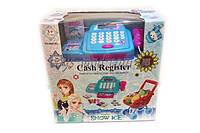 """Кассовый аппарат детский игровой набор касса магазина """"Frozen"""" 66051BX  свет-звук, сканер, тележка, продукты, в коробке"""