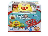 Кассовый аппарат детский игровой набор касса магазина LS820A22-1 (1504225)  свет, звук, весы, тележка, карточка, сканер, аксессуар, в коробке 30*16*30