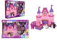 """Домик для кукол """"Замок"""" SG-2978 на батарейках, свет/звук, 2 фигурки, мебель, карета с лошадью, в коробке"""