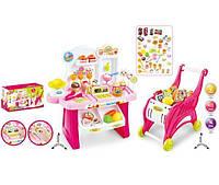 """Набор """"Магазин"""" 668-41  свет-звук, касса, весы, столик, тележка, продукты, в коробке"""