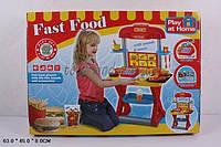"""Набор """"Fast Food"""" 661-63 на батарейках, звук, касса, продукты, посуда, в коробке 63*8*45 см."""