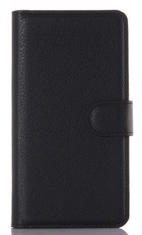 Кожаный чехол-книжка  для Lenovo K3, K30-T, A6000, A6010, A6010 Plus черный