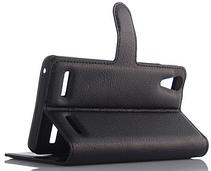 Кожаный чехол-книжка  для Lenovo K3, K30-T, A6000, A6010, A6010 Plus черный, фото 3