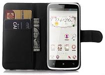 Кожаный чехол-книжка для Lenovo A516 белый, фото 2