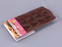 """Форма для сладостей/шоколада на палочке силиконовая 22х10,5х2 см. """"Кусочек торта"""", Agness"""