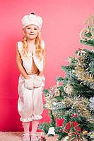 """Детский новогодний костюм """"МИШКА"""" белый на 3-7 лет"""