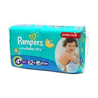 Подгузники Pampers Active Baby-Dry Maxi Plus 9-16 кг, Джамбо 62 шт (4015400264774)