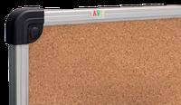 Доска для объявлений пробковая размером 65х100 см, алюминиевая рама S-line