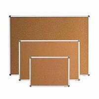 Доска для объявлений пробковая размером 90х120 см, алюминиевая рама S-line