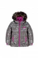 Куртка зимняя Deux par Deux P820 для девочек серый 12 лет