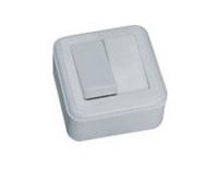 Выключатель настенный  двухклавишный А-5-078-10 УХЛ4