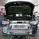 Декоративно-защитная сетка радиатора MITSUBISHI Outlander 2012-  бампер, фото 2