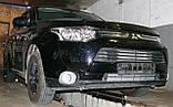 Декоративно-защитная сетка радиатора MITSUBISHI Outlander 2012-  бампер, фото 5