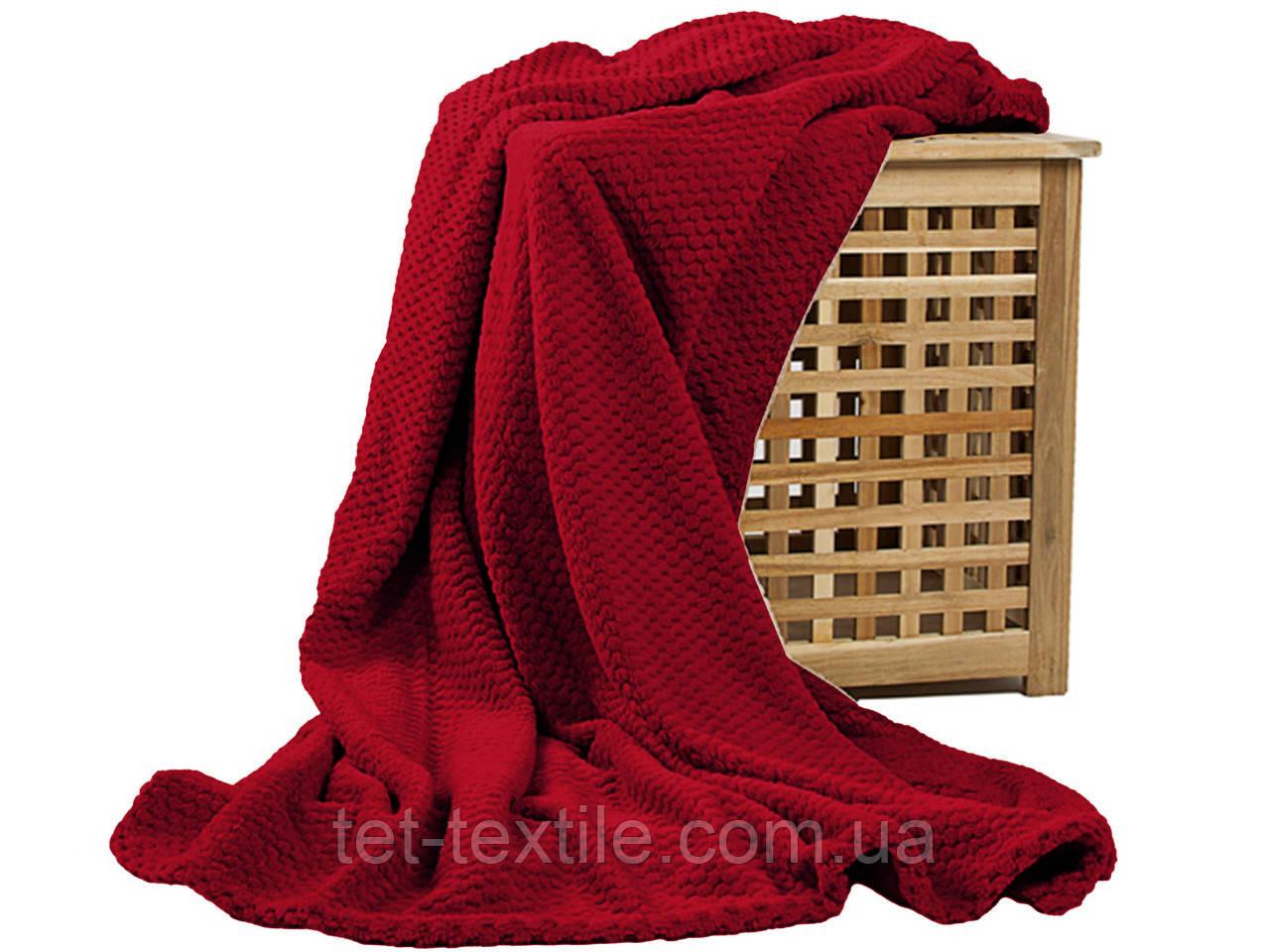Плед из бамбукового волокна Koloco красный (200х230)
