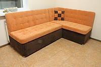 Кухонный диван с угловым сегментом (Оранжевый)