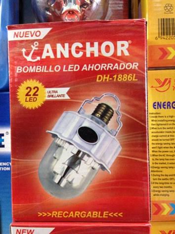 Лампа светодиодная аккумуляторная Anchor DH-1886L (Арт. 1886L), фото 2