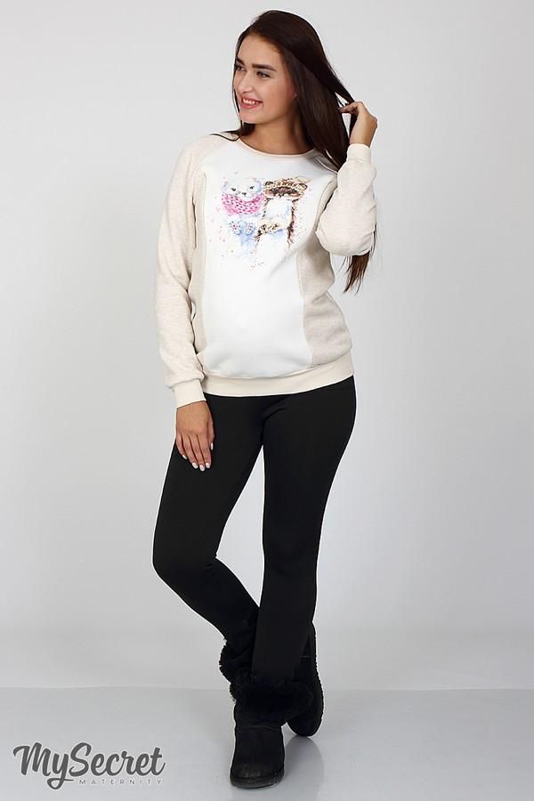 e31e405cece7 Теплые брюки-лосины для беременных KRISTI WARM черные купить одежду ...