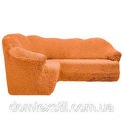 Чехол на угловой диван без юбки 3ххл