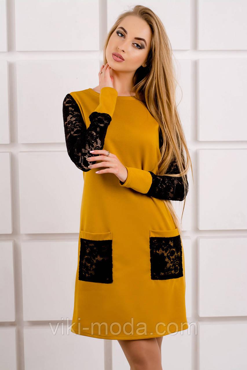 Молодежное платье с карманами