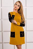 Молодежное платье с карманами, фото 1