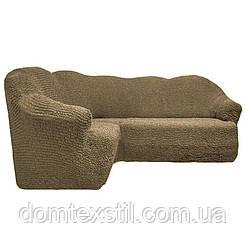 Чехол на угловой диван без юбки серый