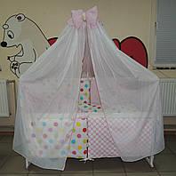 Детское постельное белье Bonna Present Розовое в разноцветный горошек