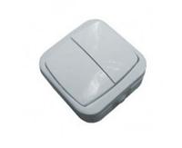 Выключатель настенный двухклавишный А5 10-142 УХЛ4